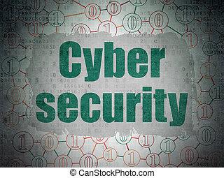 biztonság, concept:, kibernetikai, biztonság, képben látható, digitális, adatok, dolgozat, háttér