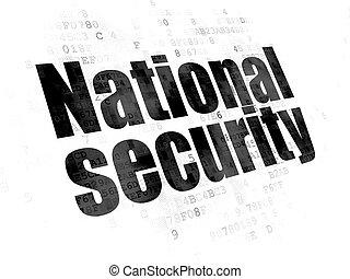 biztonság, concept:, nemzetbiztonság, képben látható, digital háttér