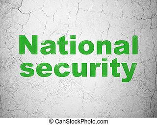 biztonság, concept:, nemzetbiztonság, képben látható, fal, háttér