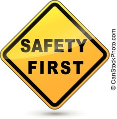 biztonság első, aláír
