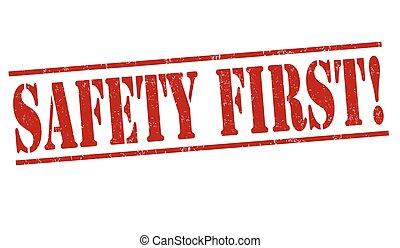 biztonság első, bélyeg