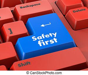 biztonság első