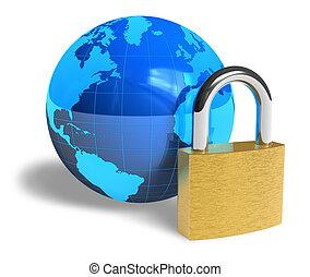 biztonság, fogalom, internet