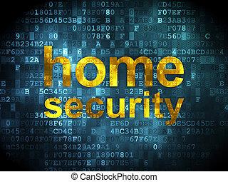 biztonság, háttér, digitális, saját értékpapírok, concept: