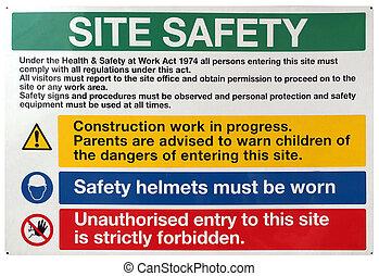 biztonság, házhely, aláír