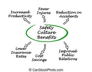 biztonság, kultúra, használ