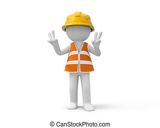 biztonság, munkás