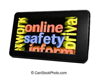 biztonság,  online