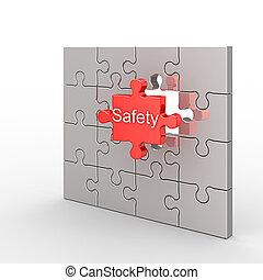 biztonság, rejtvény