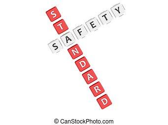 biztonság, standard