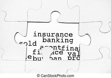 biztosítás, bankügylet