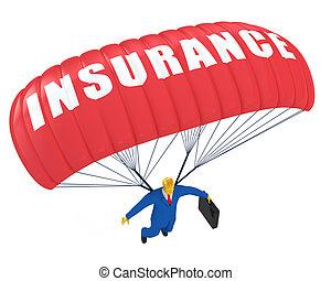 biztosítás, ejtőernyő