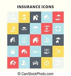 biztosítás, ikonok