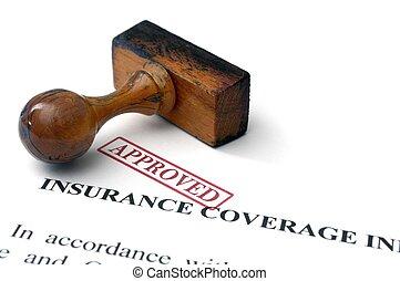 biztosítás kiterjedése, -, jóváhagyott