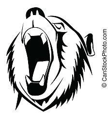 björn, vråla
