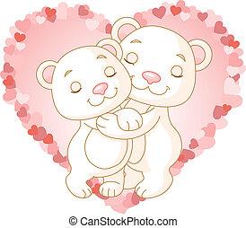 björnar, i kärlek