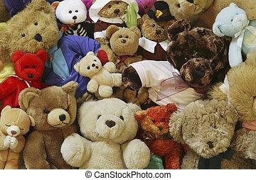 björnar, teddy