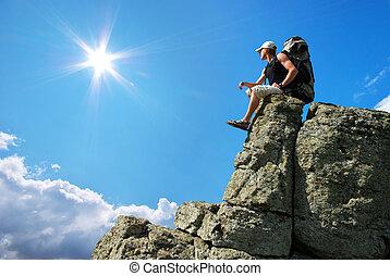 Bjerg, højdepunkt, Mand