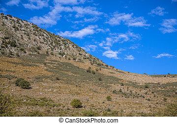 bjerg, peloponnese, landskab, ligevægt