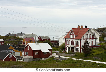 Norwegian coastal village