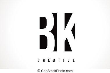 Bk B K Retro Vintage Black White Alphabet Letter Logo Bk B K