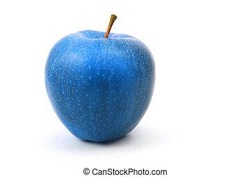 blå, äpple