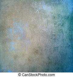 blå, årgång, gammal, bakgrund, struktur