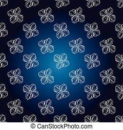 blå, årgång, seamless, mönster, hand, mörk, vektor, illustration, bakgrund, oavgjord, design