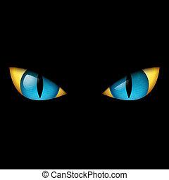 blå øje, onde