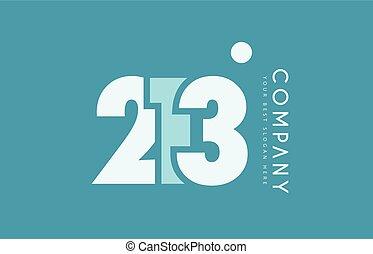blå, 213, numrera, design, cyan, logo, vit, ikon