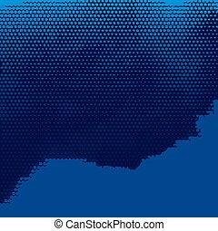 blå, abstrakt, bakgrund, halftone