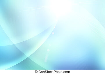 blå, abstrakt, bakgrund