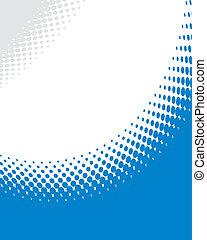 blå, abstrakt, bakgrund, vector., halftone