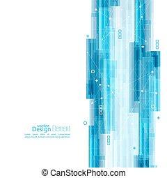 blå, abstrakt, corner., striber, baggrund