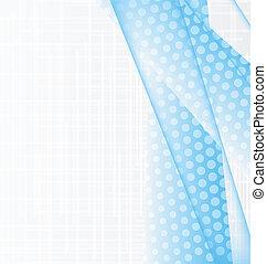 blå, abstrakt, illustration, bakgrund