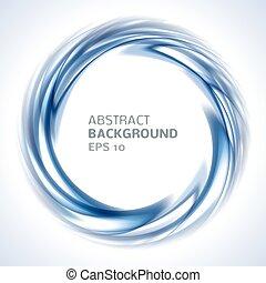 blå, abstrakt, klar, baggrund, swirl, cirkel