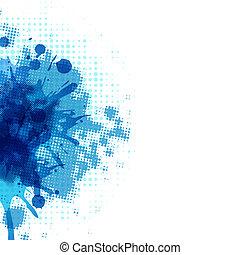 blå, abstrakt, klick, bakgrund