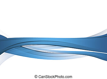 blå, abstrakt, komposition