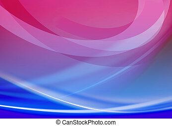 blå, abstrakt, l, baggrund