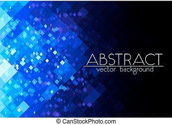 blå, abstrakt, lysande, galler fond, horisontal