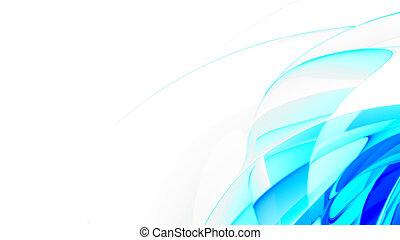 blå, abstrakt, slät
