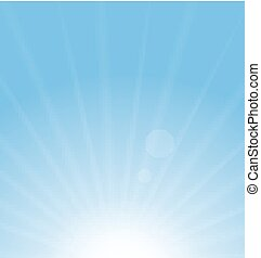 blå, abstrakt, sol fond