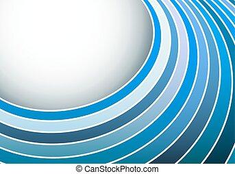 blå, abstrakt, striber, space., vektor, baggrund, cirkel, kopi