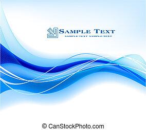 blå, abstrakt, vektor, bakgrund