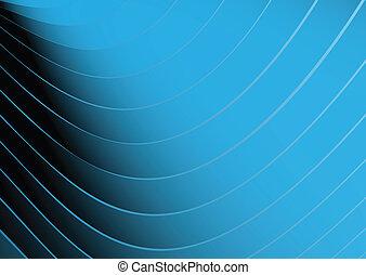 blå, abstrakt, vektor, fodrar