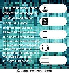 blå, affärsverksamhet färga, text, annonsering, baner