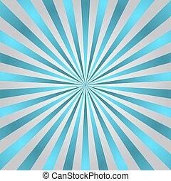 blå, affisch, stråle, stjärna brast