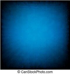 blå, affisch, sunburst, retro