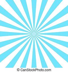 blå, affisch, vit, stråle