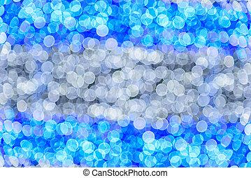 blå, ans, vit, abstrakt, bokeh, lights., defocused, bakgrund